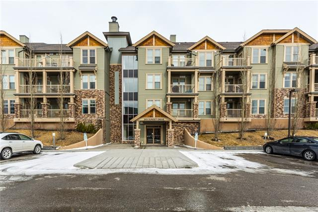 For Sale: 205 - 205 Sunset Drive, Cochrane, AB | 2 Bed, 2 Bath Condo for $245,000. See 28 photos!