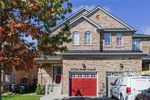Townhouse for sale at 205 Zia Dodda Cres Brampton Ontario - MLS: W4606120