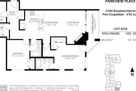 Condo for sale at 2109 Rowland St Unit 208 Port Coquitlam British Columbia - MLS: R2360544