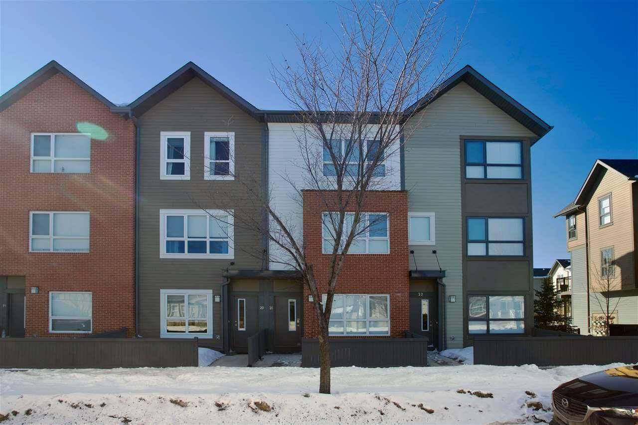 Townhouse for sale at 2560 Pegasus Blvd Nw Unit 21 Edmonton Alberta - MLS: E4191727