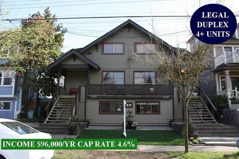 House for sale at 2128 Pender St E Vancouver British Columbia - MLS: R2454388