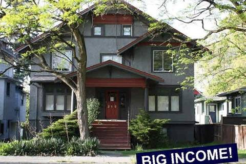 Home for sale at 215 12th Ave W Vancouver British Columbia - MLS: R2309883
