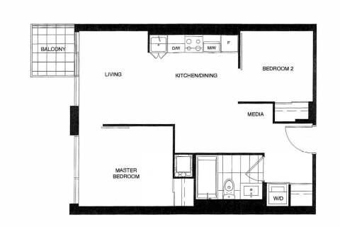 Apartment for rent at 200 Dundas St Unit 2208 Toronto Ontario - MLS: C4821066