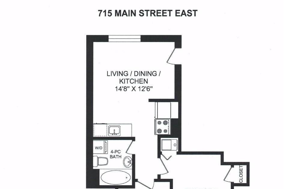 Apartment for rent at 715 Main St E Unit 23 Hamilton Ontario - MLS: H4091838