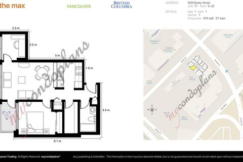 Condo for sale at 928 Beatty St Unit 2311 Vancouver British Columbia - MLS: R2405238