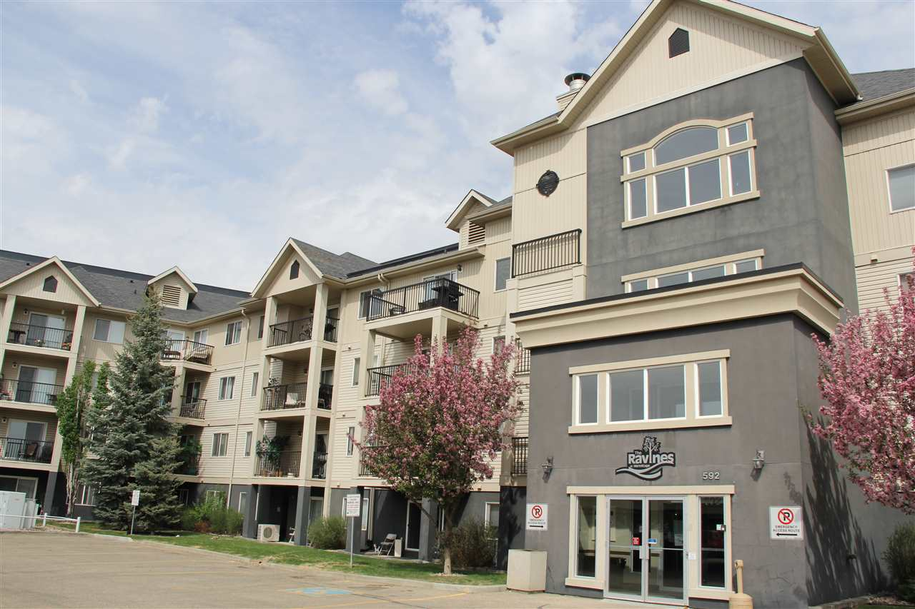 For Sale: 233 - 592 Hooke Road, Edmonton, AB | 2 Bed, 2 Bath Condo for $208,000. See 29 photos!