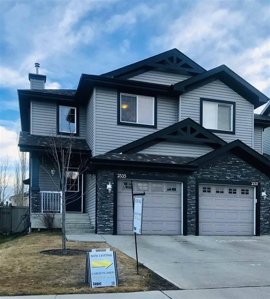 Townhouse for sale at 2335 Lemieux Pl Nw Edmonton Alberta - MLS: E4192265