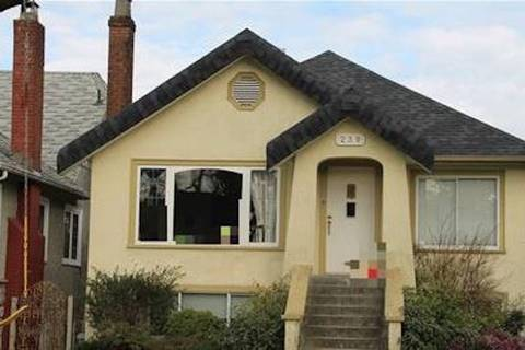 House for sale at 239 21st Ave W Vancouver British Columbia - MLS: R2351196