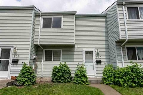 Townhouse for sale at 240 Dickinsfield Ct Nw Edmonton Alberta - MLS: E4154185