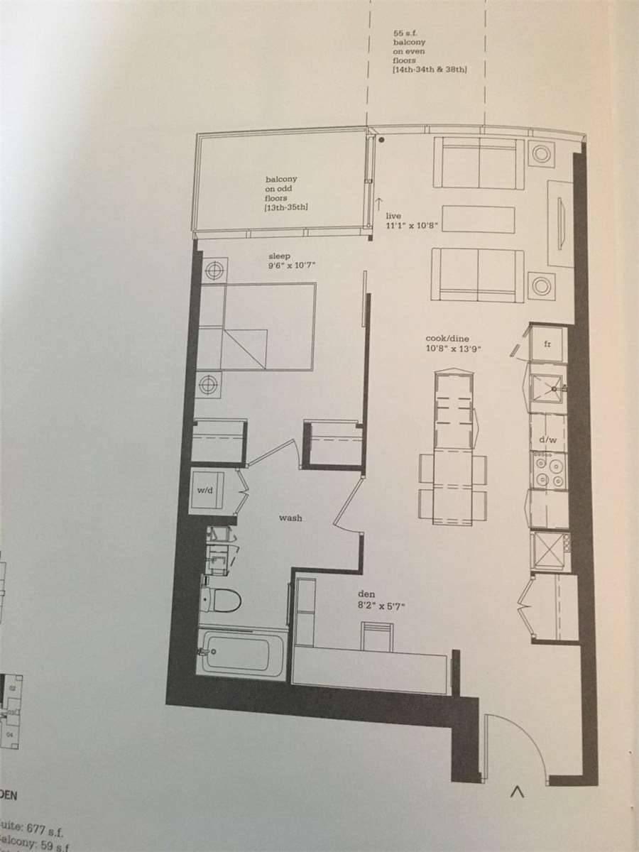 Apartment for rent at 16 Bonnycastle St Unit 2401 Toronto Ontario - MLS: C4420159