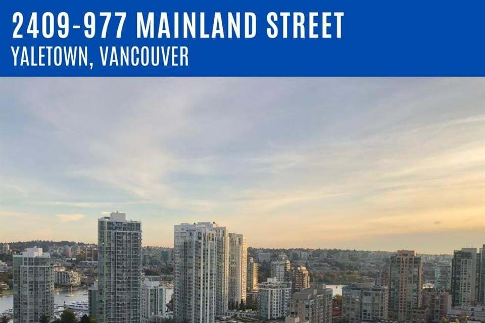 Apartment for rent at 977 Mainland St Unit 2409 Vancouver British Columbia - MLS: R2492559