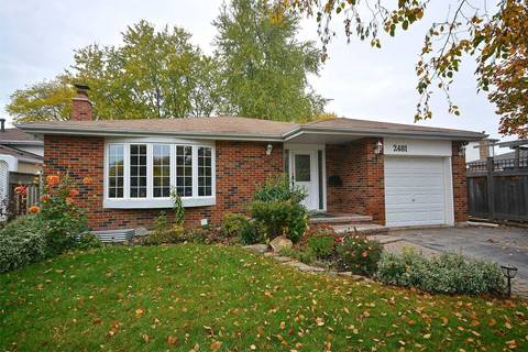House for sale at 2481 Bromsgrove Rd Mississauga Ontario - MLS: W4633856