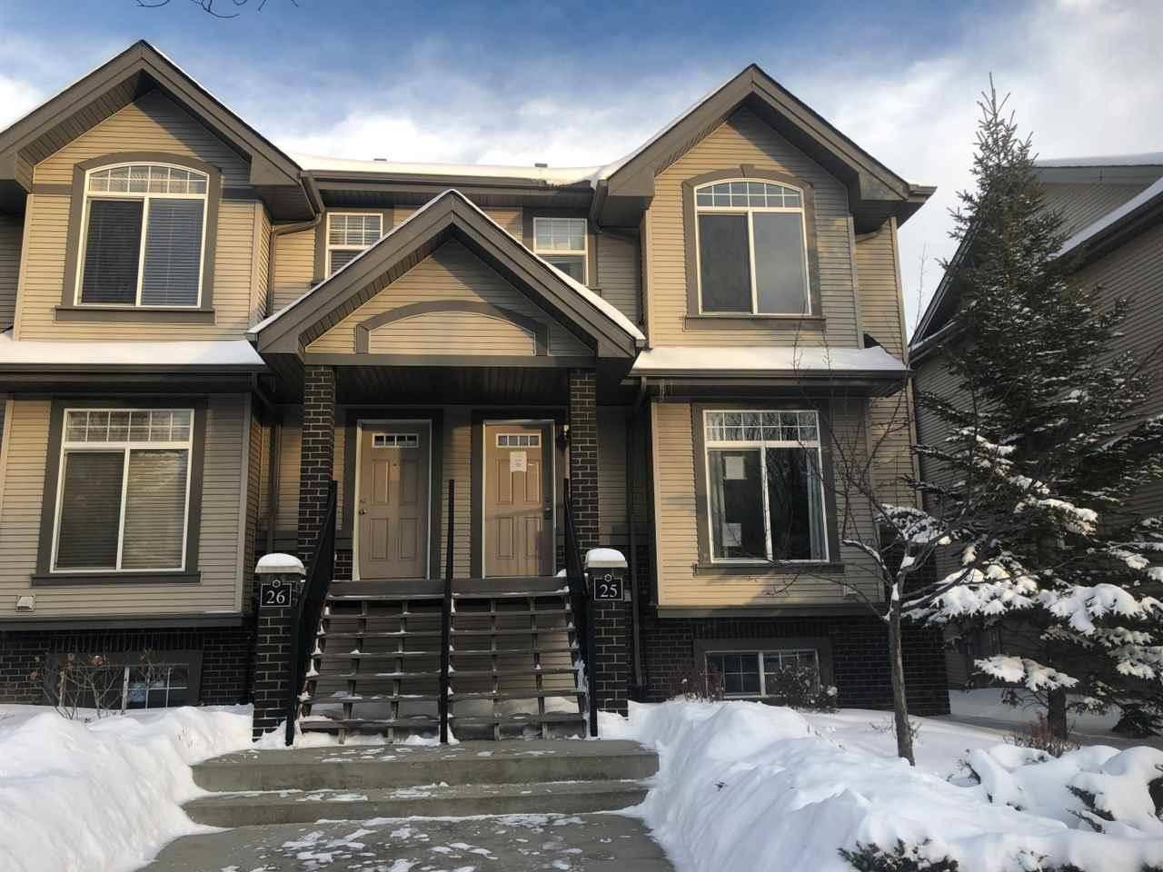 Townhouse for sale at 4755 Terwillegar Common Nw Unit 25 Edmonton Alberta - MLS: E4185249