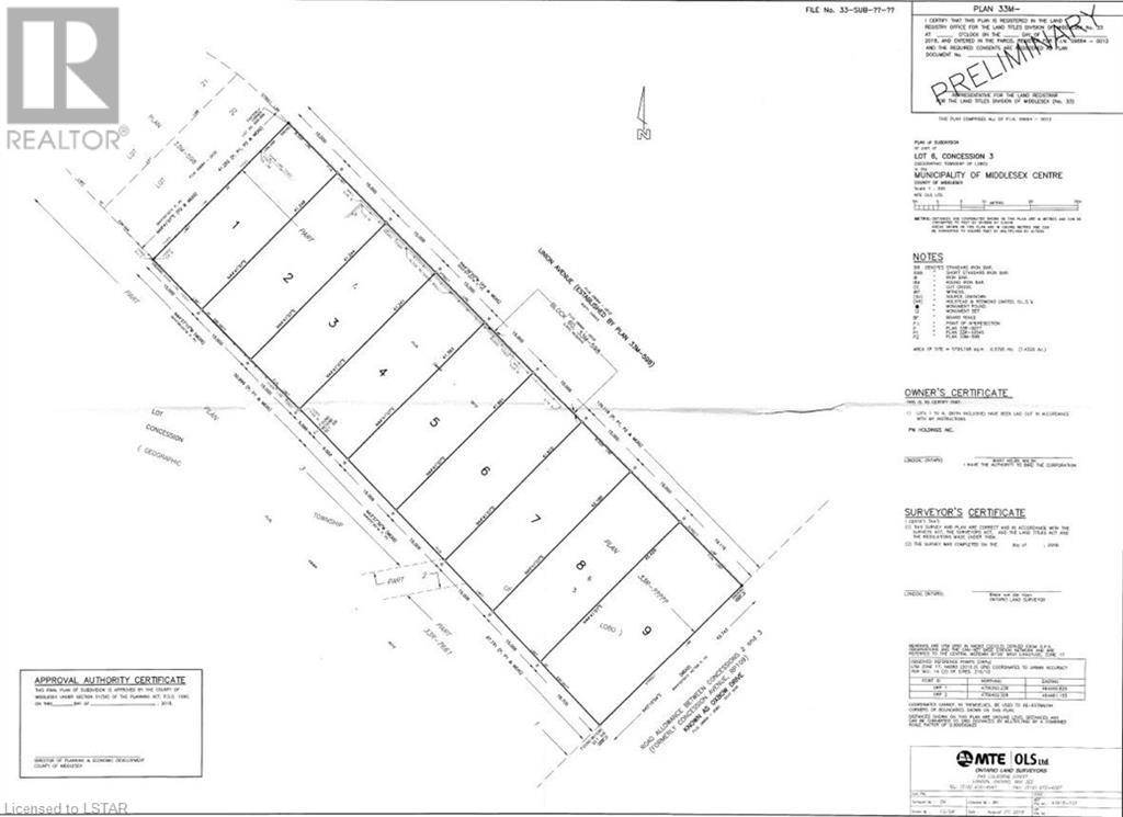 Residential property for sale at 250 Union (proposed) Ave Komoka Ontario - MLS: 227842