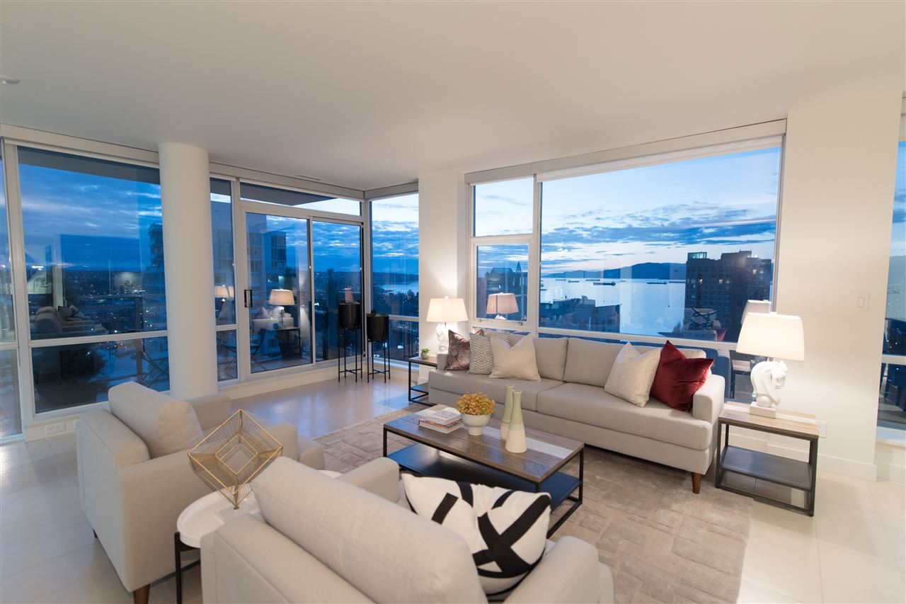 For Sale: 2504 - 1455 Howe Street, Vancouver, BC | 2 Bed, 2 Bath Condo for $2,449,000. See 20 photos!