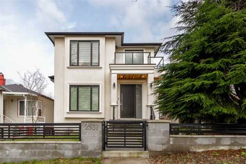 House for sale at 2537 8th Ave E Vancouver British Columbia - MLS: R2335027