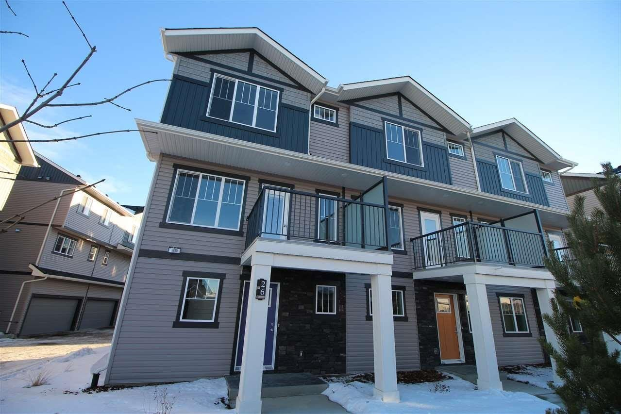 Townhouse for sale at 165 Cy Becker Bv NW Unit 26 Edmonton Alberta - MLS: E4221256