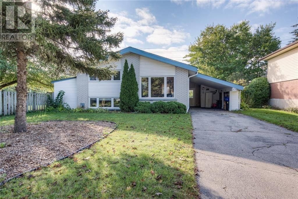 House for sale at 27 Bishop Ct Kitchener Ontario - MLS: 30776153