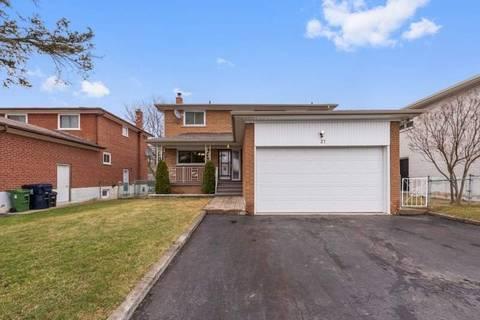 House for sale at 27 Degrey Ct Toronto Ontario - MLS: E4730325