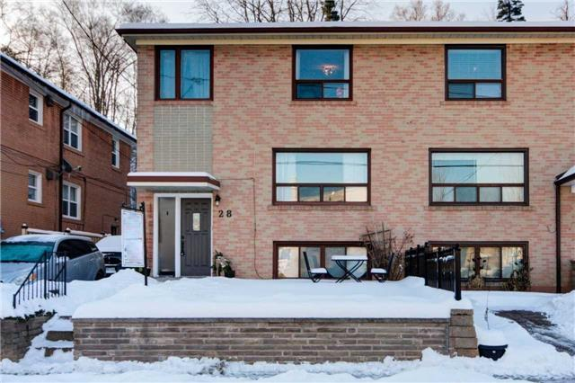 For Sale: 28 Edinborough Court, Toronto, ON | 3 Bed, 2 Bath Townhouse for $894,000. See 20 photos!