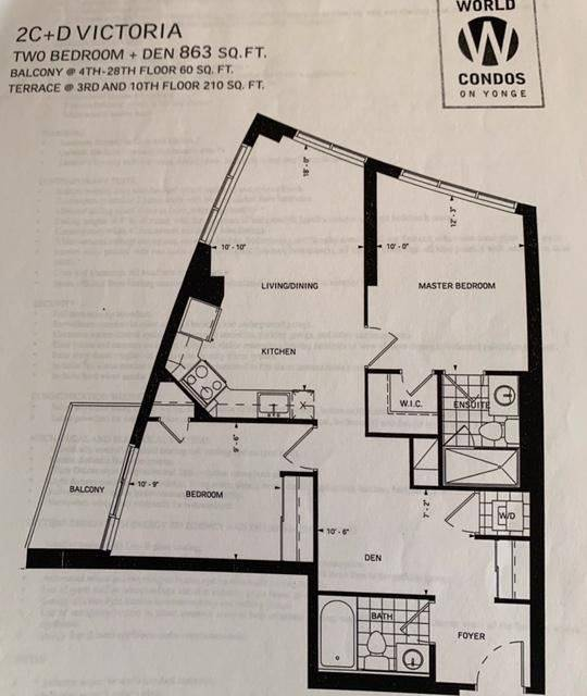 Apartment for rent at 7161 Yonge St Unit 2832 Markham Ontario - MLS: N4573682
