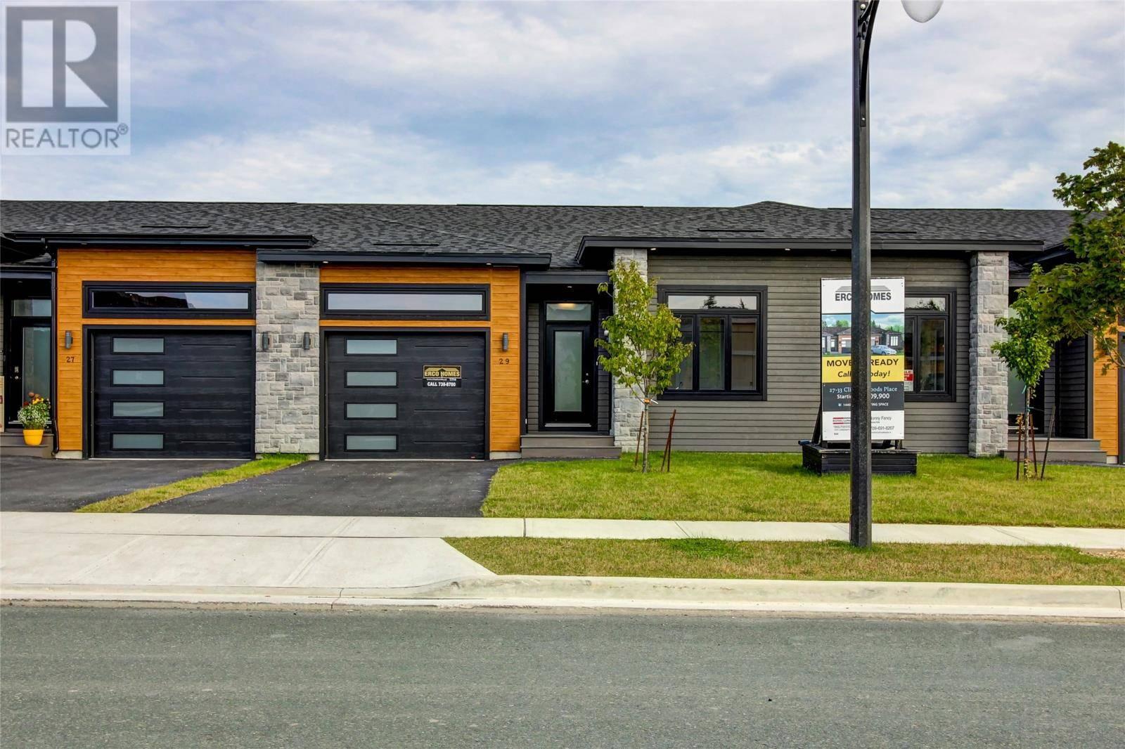 House for sale at 29 Clifden Woods Pl St. John's Newfoundland - MLS: 1197032
