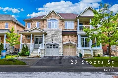Townhouse for sale at 29 Stoots St Markham Ontario - MLS: N4481221
