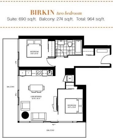 Apartment for rent at 50 Charles St Unit 2905 Toronto Ontario - MLS: C4498291
