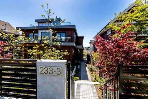 Townhouse for sale at 233 5th St W Unit 3 North Vancouver British Columbia - MLS: R2393446