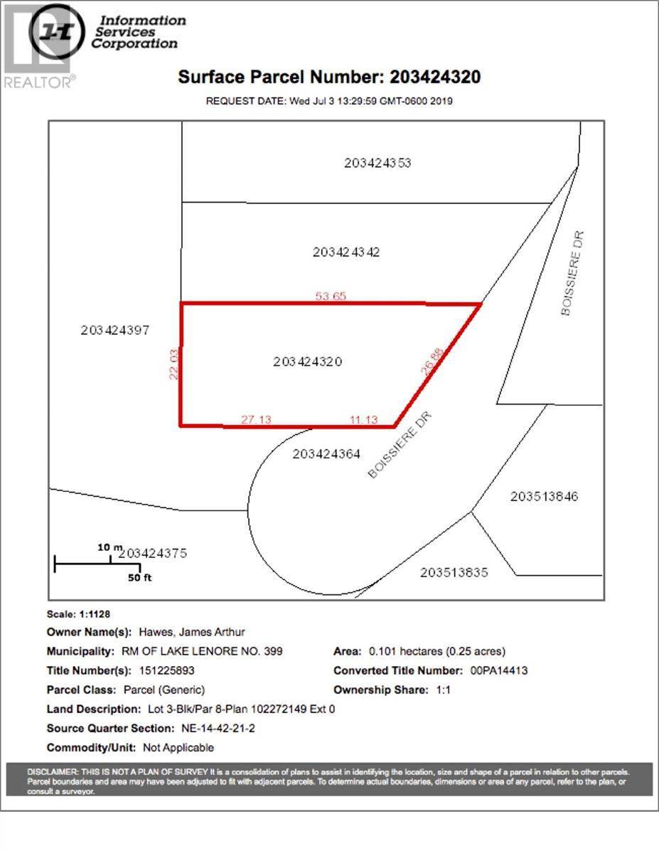 Residential property for sale at 8 Lot Block Dr Unit 3; St. Brieux Saskatchewan - MLS: SK778728