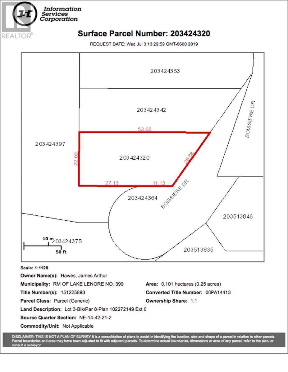 Residential property for sale at 8 Lot Block Dr Unit 3; St. Brieux Saskatchewan - MLS: SK778728