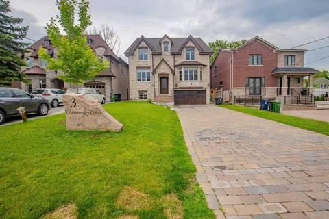 House for sale at 3 Community Circ Toronto Ontario - MLS: C4502148