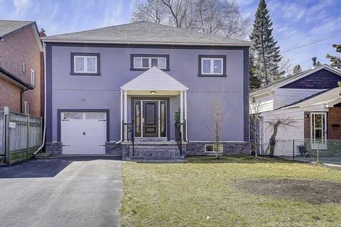 House for sale at 30 Minnacote Ave Toronto Ontario - MLS: E4728848