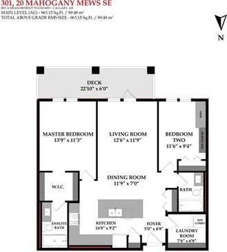 Condo for sale at 20 Mahogany Me Southeast Unit 301 Calgary Alberta - MLS: C4243251