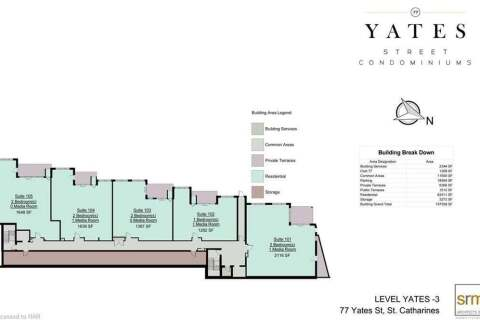 Condo for sale at 77 Yates St Unit 303 St. Catharines Ontario - MLS: X4885025