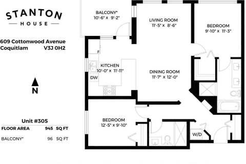Condo for sale at 609 Cottonwood Ave Unit 305 Coquitlam British Columbia - MLS: R2498351