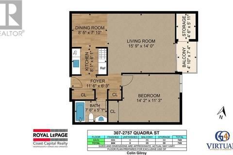 Condo for sale at 2757 Quadra St Unit 307 Victoria British Columbia - MLS: 412651