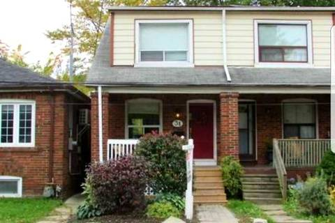 Townhouse for rent at 31 Secord Ave Toronto Ontario - MLS: E4642855