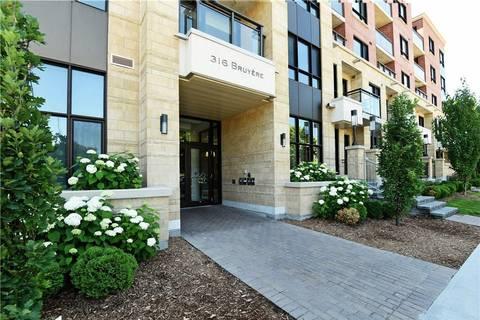 Condo for sale at 316 Bruyere St Unit 314 Ottawa Ontario - MLS: 1150752