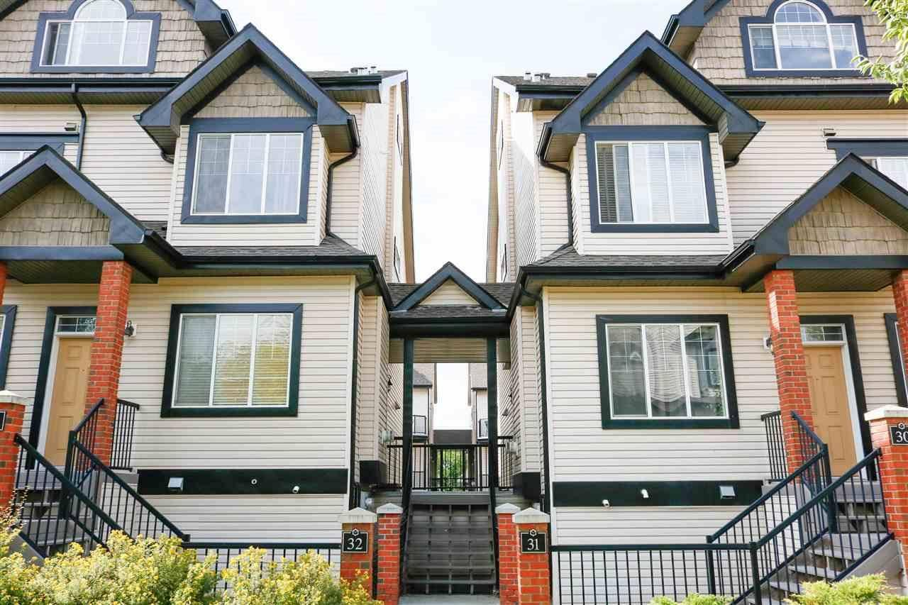 Townhouse for sale at 4821 Terwillegar Common Nw Unit 32 Edmonton Alberta - MLS: E4174128
