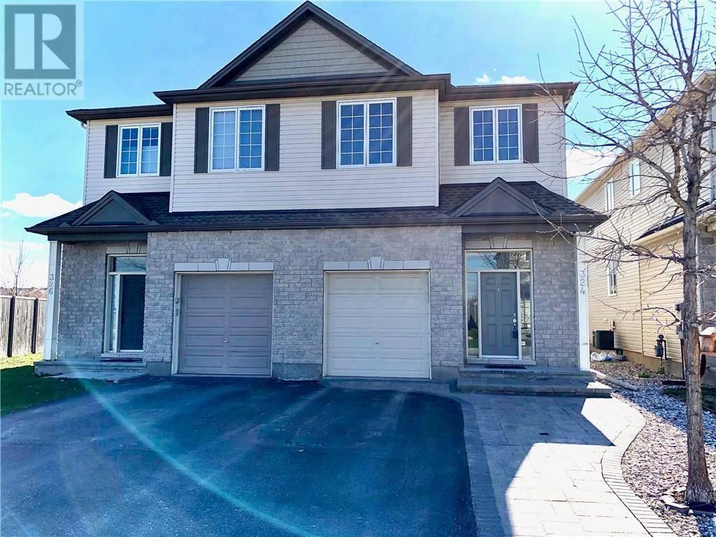 House for sale at 324 Kippen Pl Ottawa Ontario - MLS: 1187443