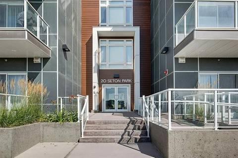 Condo for sale at 20 Seton Pk Southeast Unit 329 Calgary Alberta - MLS: C4263916