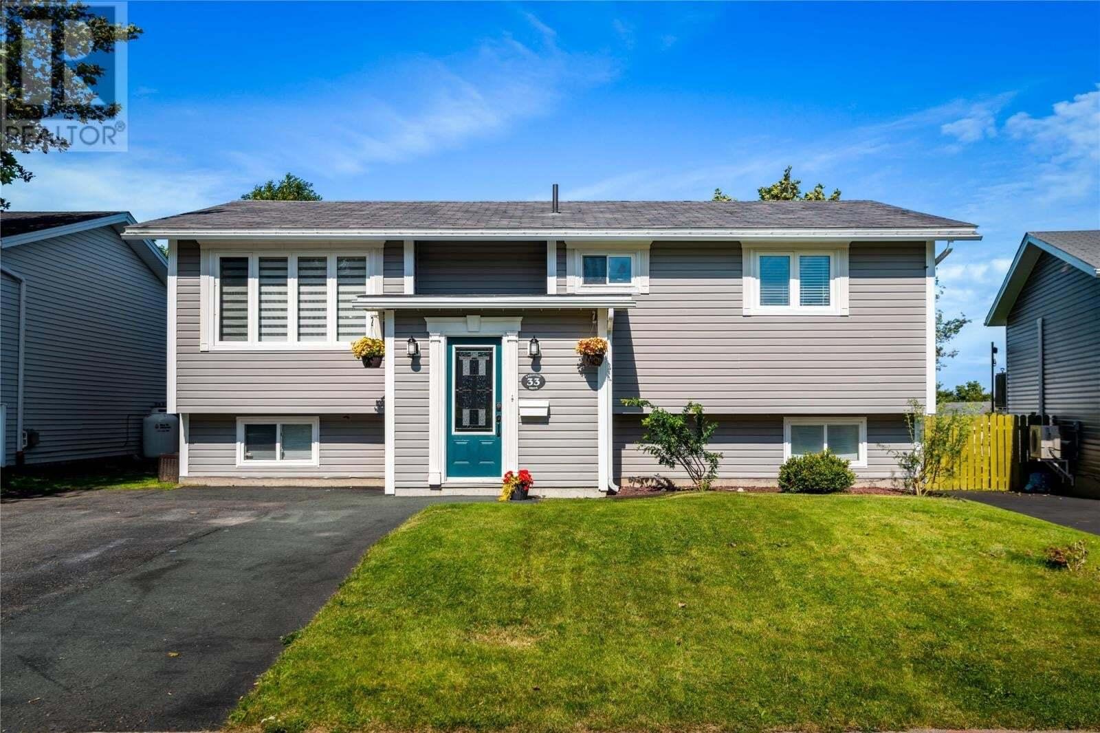 House for sale at 33 Carleton Dr Mount Pearl Newfoundland - MLS: 1221052