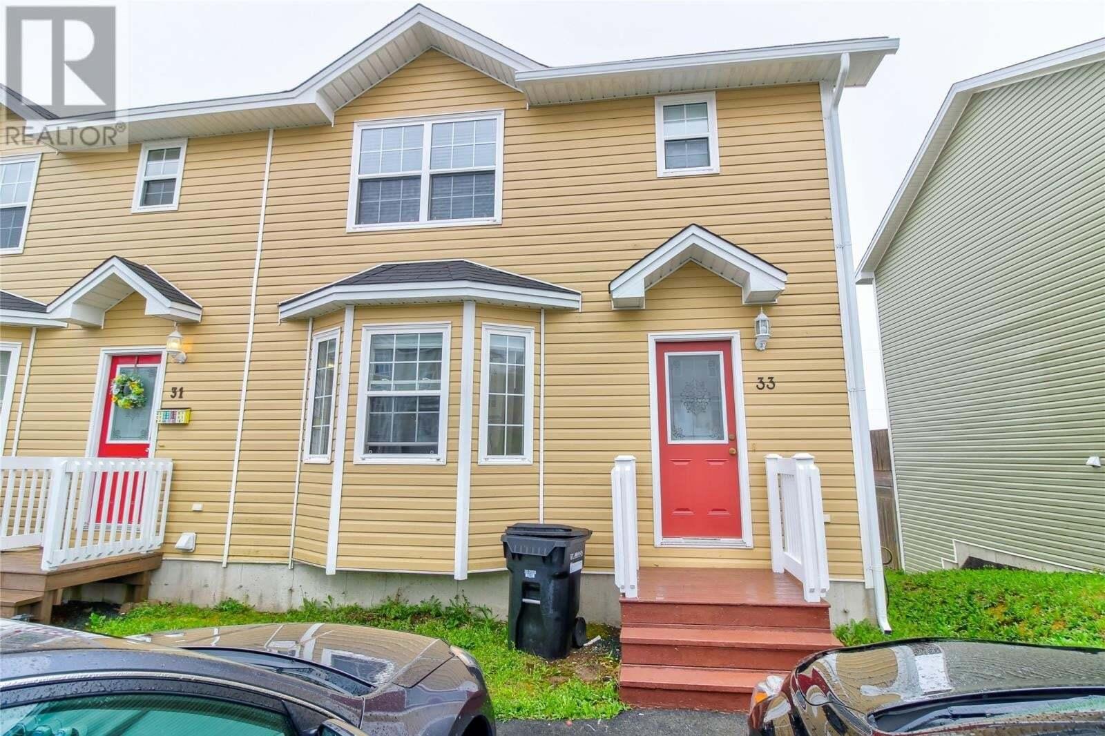 House for sale at 33 Faulkner St St. John's Newfoundland - MLS: 1214632