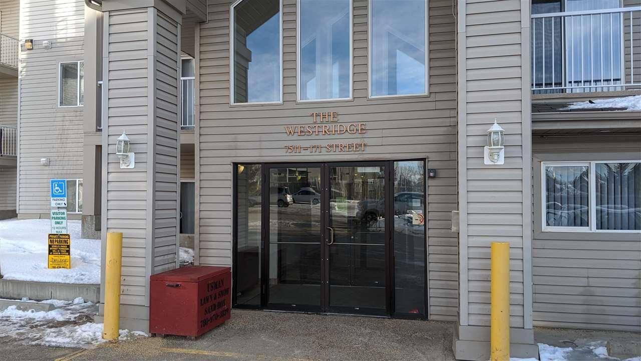 Condo for sale at 7511 171 St Nw Unit 330 Edmonton Alberta - MLS: E4186035