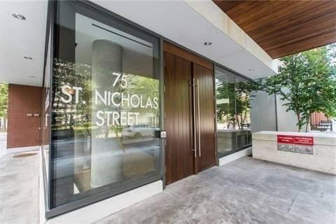 Apartment for rent at 75 St. Nicholas St Unit 3303 Toronto Ontario - MLS: C4460466