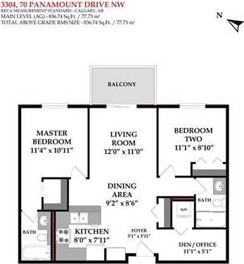 Condo for sale at 70 Panamount Dr Northwest Unit 3304 Calgary Alberta - MLS: C4253538