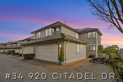 Townhouse for sale at 920 Citadel Dr Unit 34 Port Coquitlam British Columbia - MLS: R2451647