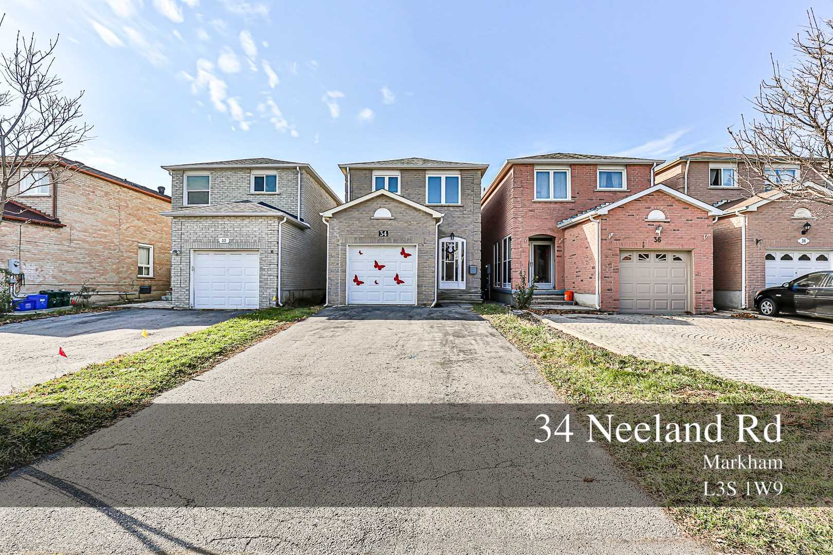 For Sale: 34 Neeland Road, Markham, ON | 4 Bed, 3 Bath House for $788000.00. See 1 photos!