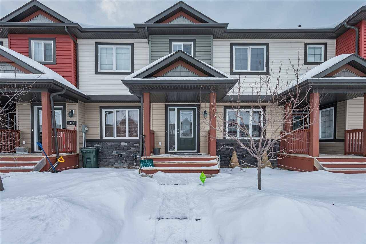 Townhouse for sale at 359 Nelson Dr Spruce Grove Alberta - MLS: E4187900